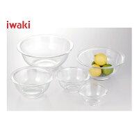 iwaki(イワキ)耐熱ボウル5点セット≪250ml,500ml,900ml,1.5L,2.5L×各1個≫PST-BO-40N