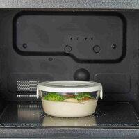 HARIO(ハリオ)耐熱ガラス製保存容器丸3個セットカラー:オフホワイト、レッド※各色別売