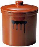 【在庫処分品】常滑焼 プロ仕様発酵かめ重石付き 4971-474 レジピ付き 4号 材質:陶器