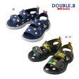 ダブルB【DOUBLE B】ジャージ素材のソフトフィットサンダル(14cm-19cm)