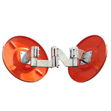 \楽天スーパーSALE/ 【サンキュークーポン配布中】カーブミラー 丸型600φ アクリル製ミラー2面鏡セット(道路反射鏡) HPLA-丸600W白 二面鏡ミラー(金具付)のみ 白