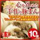 【蓬莱本館】手作り豚まん(肉まん)≪10個入り≫【楽ギフ_のし】〈蓬莱 豚まん ホーライ …