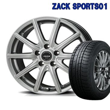 ZACK SPORTS01 スタッドレスタイヤ ホイールセット 4本 16インチ 5H100 6.5J+48 ジャパン三陽 グッドイヤー アイスナビ7 205/55R16 205 55 16