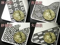 龍紋入りのK18金ゴールド&シルバーペンダント柄