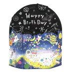 バースデーカード ライト付きミュージックカード コスモ 宇宙 B138-23 学研ステイフル アクリル板が光るメロディー誕生日カード Birthday Card グリーティングカード お誕生お祝い 立体カード メール便可