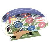 夏カード 浮世絵朝顔千鳥うちわ SAR-727-079 (ホー115) 歌川広重 立体カード ホールマーク