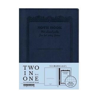 能收藏2本供筆記本覆蓋物CD筆記本服裝B6使用的深藍CDV180-NV筆記本的筆記本覆蓋物APICA