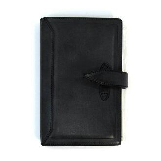 達 · 芬奇格蘭德羅姆經典聖經大小系統手冊 (環 15 毫米) 黑色 DB3011B 研磨和寶石般光澤的摺頁冊! 雷藤井裕久 02P19Dec15