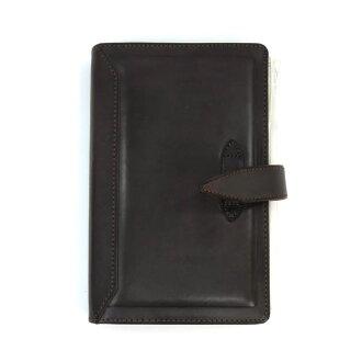 達 · 芬奇格蘭德羅姆經典聖經大小系統手冊 (環 15 毫米) 暗棕色 DB3011E 磨練和寶石般光澤的摺頁冊! 雷藤井裕久 02P20Nov15