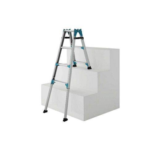 アルミ製 階段で使える はしごにもなる 脚立 片方伸びる 長谷川工業 RYE1.0-18
