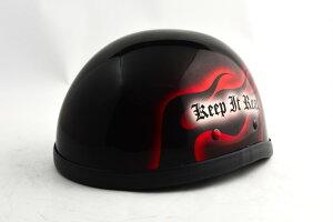 BICYCLE HELMET/EAGLE HALF HELMET/ohe02frイーグルハーフヘルメット/カスタムペイント(検索ワード)マーブライザーキャンディーハーレーデザインペイントラップ塗装装飾用ダックテールアウトロー