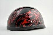 EAGLEHALFHELMET/イーグルハーフヘルメット/MULTISKULLFLAMESRED(検索ワード)装飾用ダックテール・アウトロー・アメリカン・USAノベルティー・バイク・バイカー・ハンボウ・半帽・半ヘル