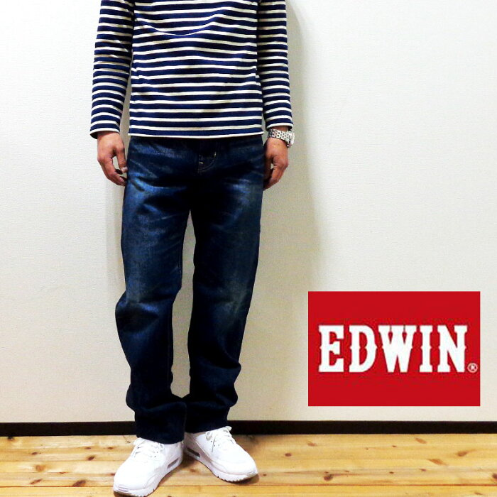 【セール】 EDWIN (エドウィン) E STANDARD/E スタンダード-ED04-1126 ルーズストレート/中濃色