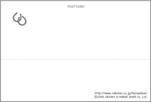 馬のイラストレーターおがわじゅりポストカード〜Matching〜お揃い・馬と犬【ゆうメール便可】