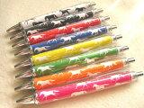 おがわじゅりの馬イラストうまくいくボールペン全8色(ばら売り)馬が9頭で・・・馬9ウマクイク