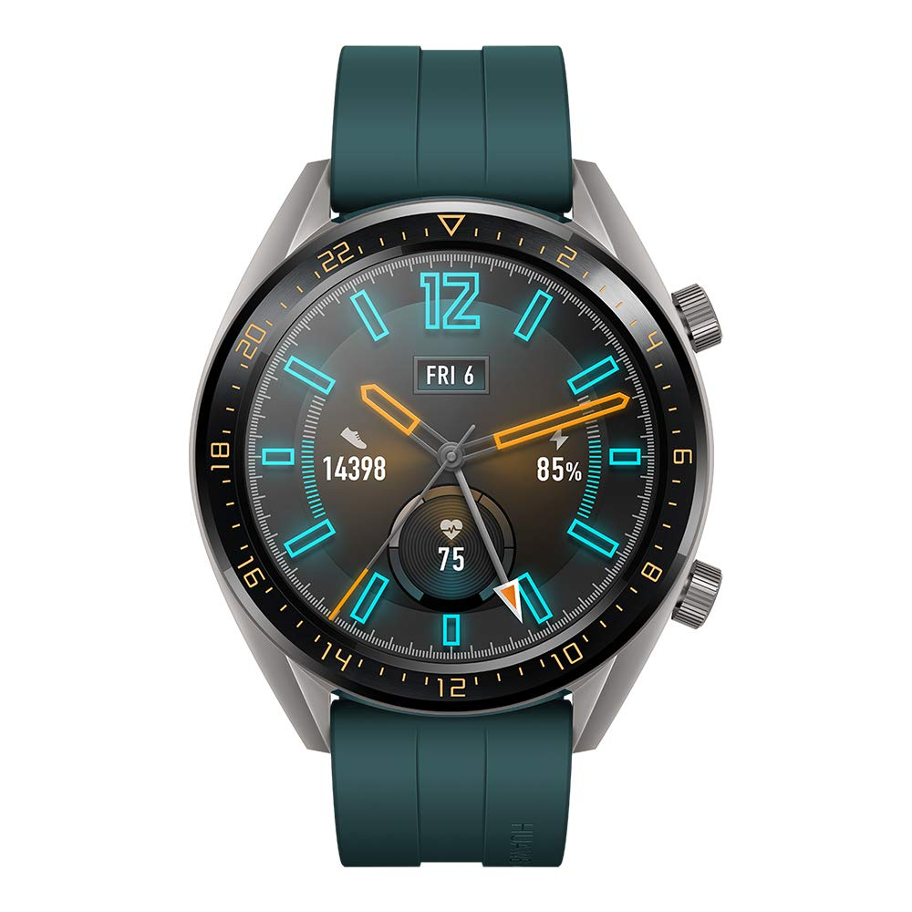 HUAWEI WATCH GT(46mm) スマートウォッチ Dark Green 1.39インチAMOLED(有機EL)タッチディスプレイ/GPS/2週間バッテリー/リアルタイム心拍計測/5気圧防水