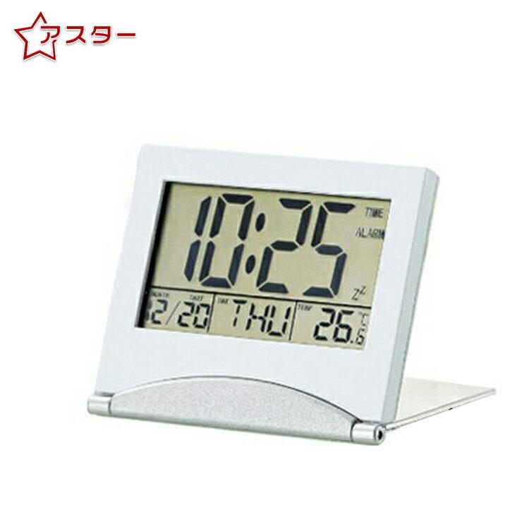 置き時計 デジタル 置時計 おしゃれ 時計 卓上 インテリア時計 デジタル時計 置時計 おしゃれ ミニ 温度計 誕生日タイマー カレンダー カウントダウン アラームクロック スリム設計 アルミ製