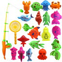 魚釣り おもちゃ 釣りゲーム 水遊び お風呂 プール 子供 幼児 玩具 魚釣りゲーム 22セット