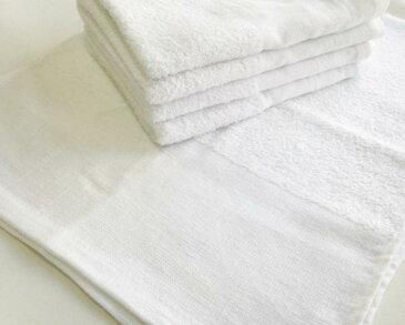 白いタオル 160匁平地付きパイル 白タオル フェイスタオル 業務用 お徳用