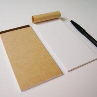 壱万円サイズメモ帳K4-JW-50【Sセット・8冊】なか紙:上質紙(白・無地)・50枚