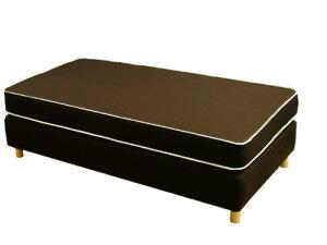 ダブルクッションベッド/シングル(幅97cm)/高密度スプリング/ボトム・オックス生地タイプ(ベットベッドホテルホテル仕様)