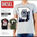 ディーゼル DIESEL Tシャツ メンズ 半袖 Tee 00SS3L 0091B T-DIEGO GR グラフィック DS41233SL メール便送料無料