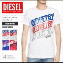 ディーゼル DIESEL Tシャツ メンズ 半袖 Tee 00S3GF 0091B T-DIEGO-RA ロゴ プリント DS41255SL メール便送料無料