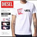 ディーゼル DIESEL Tシャツ メンズ 半袖 Tee 00S02X-0091B T-DIEGO-QA プリント ロゴ DS41259SL メール便送料無料