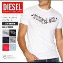 ディーゼル DIESEL Tシャツ メンズ 半袖 Tee 00SLSP-R091B R-JOE-I ロゴ プリント DS41262SL メール便送料無料