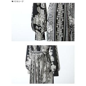 【LA直輸入★インポート】花柄MIX長袖オールインワン-ls-jf-js018-詳細画像