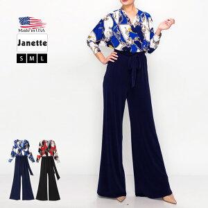 【LA直輸入★インポート】七分袖カシュクールジャンプスーツ-ls-jf-js019-メイン画像
