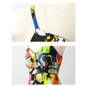 【LA直輸入★インポート】レトロガール柄マキシワンピースドレス-ls-jf-op326-詳細画像