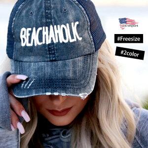【LA直輸入★インポート】BEACHAHOLICh2oholicロゴメッシュキャップ-f-o7-ht005-メイン画像
