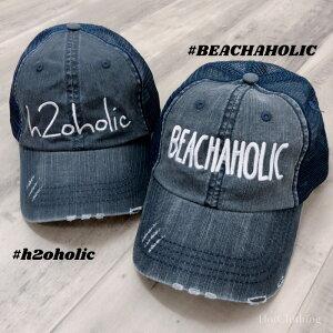 【LA直輸入★インポート】BEACHAHOLICh2oholicロゴメッシュキャップ-f-o7-ht005-詳細画像