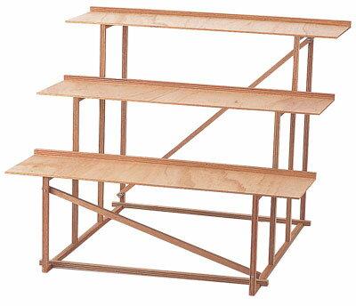 お盆飾り祭壇木段三段幅80cm奥行75cm高さ65cmygc9421