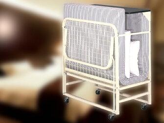 エキストラベッド◆ホテルの折り畳み式エキストラベッド(マットレスセット)を、ホテル向けとしてだけでなくご家庭にも1台からお届け可◆日本製★マットレス+フレームセット(キャスター付)