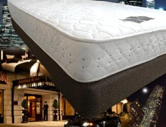 高級ホテル納入仕様のままのホテルベッド一流ホテル納入モデル「上下セット」Dダブルサイズ(ポケットハードタイプマットレス+ボックススプリングボトム(固定脚,キャスターセット))安眠ホテルの寝心地