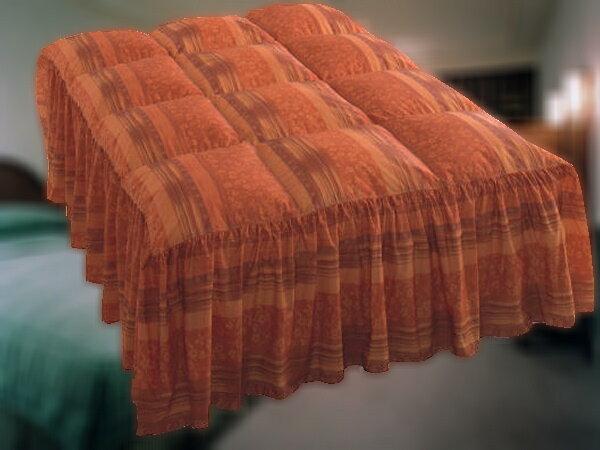ホテルの羽毛ベッドカバー(フリルタイプ)を1枚からご家庭向けにもお届け◇本物の一流ホテル高級旅館仕様なのでフワッと軽く上品な風合い◆USシングルサイズ◆しかも,お客様がお持ちのベッドのサイズに合わせて縫製します!日本製