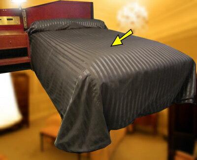 ベッドスプレッド S(シングル)サイズ(ベッドの上からスッポリ覆うホテルスタイルのベッドカバー)ご家庭向けにも1枚からお届けします※ベッドの本体部分用/お持ちのベッドのサイズに合わせて縫製します/日本製