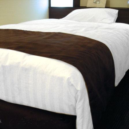 ホテルベッドスロー(ベッドライナー) PSシングルサイズ いつも一流ホテル/高級旅館の客室にお納めしているベッドスローをご家庭向けに1枚からお届け!これで自宅のインテリアがホテルみたいに変身!ベッドの足元に掛ける帯みたいなアクセサリー 送料無料 日本製