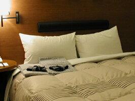 ホテルのペアピロー(ホテルフェザーピロー+フェザーパイマーピロー)羽根枕とパイプまくらのx2個セット,大手ホテルや高級旅館で採用◆日本製