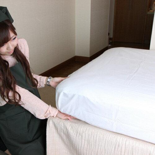 シーツ/ボックスシーツ Q2 クイーンサイズ/(ホテルではフラットな「メイキングシーツ」が一般的ですがご家庭ではベッドメイクし易い、この箱型(ボックス型)シーツも大人気)