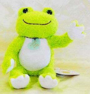 いろんなポーズが作れるカエルのピクルス ポージングぬいぐるみ ライム(G)