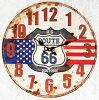アンティークエンボスクロックUSROUTE66【壁掛け時計・アメリカン】