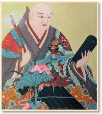 仏画色紙日蓮聖人