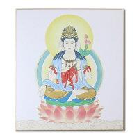 仏画色紙観世音菩薩
