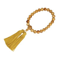 数珠(男性用略式)高野檜22珠正絹房