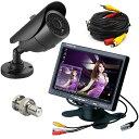 赤外線LED搭載防犯カメラ + 7インチVGA入力付きモニター+ 20mケーブルVGA7CB20101B