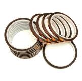 【単品販売】絶縁性テープ10mm幅全長約33m耐熱ポリイミド接着テープ接着剤不要INSTP1033
