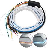 流れるウィンカーLEDテープライトシーケンシャルウィンカー120cm汎用品テールライトシリコンチューブライトSBTL120C